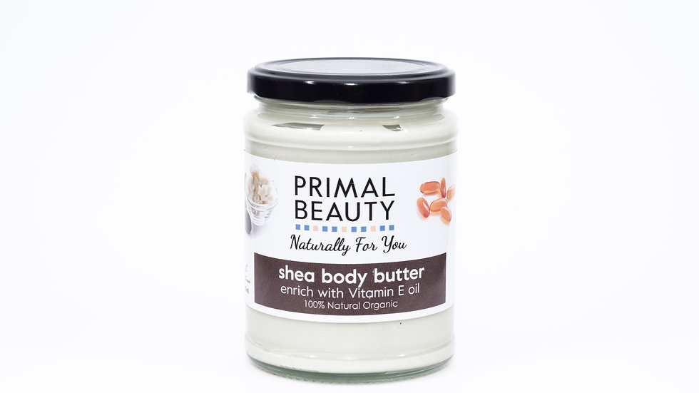 Primal Beauty Whipped Shea Butter enriched with Vitamin E Oil