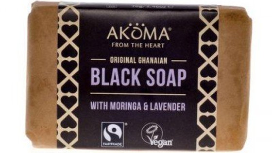 Black Soap Lavender  Enriched with Unrefined Moringa and Neem Oil