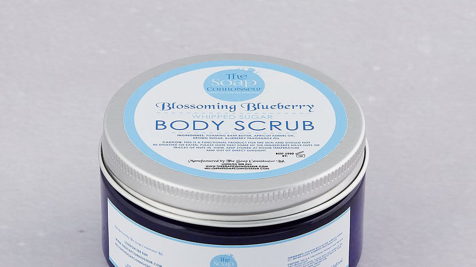 The Soap Connoisseur -Blossoming Blueberry Whipped Sugar Scrub