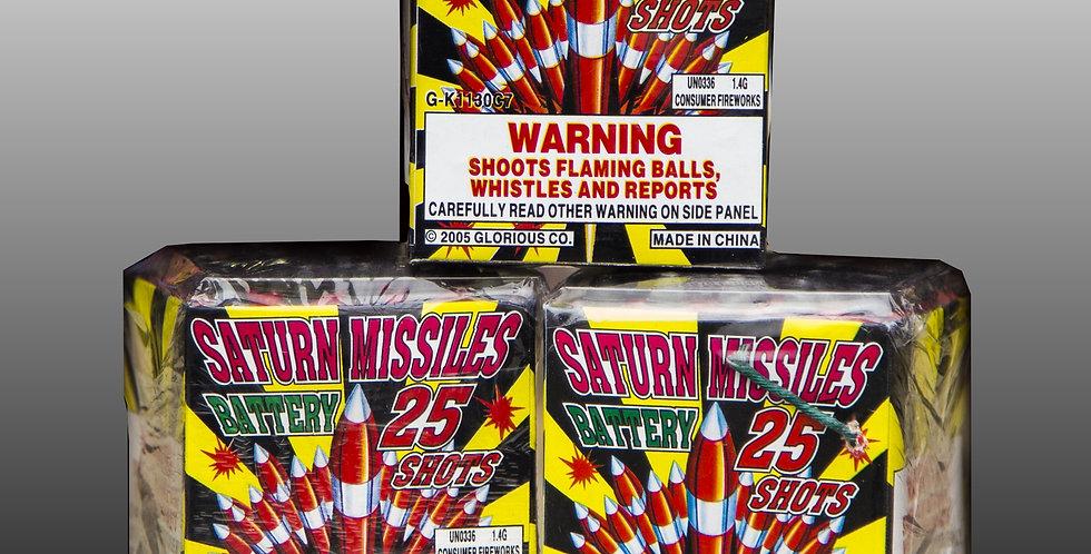 Crackling Saturn Missile Battery (300-Shot)