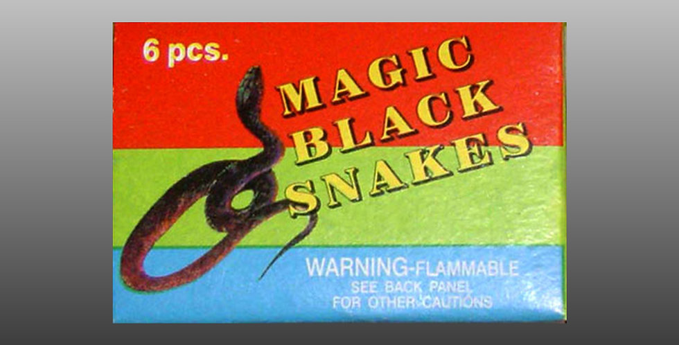 Magical Black Snakes (6-Pc.)