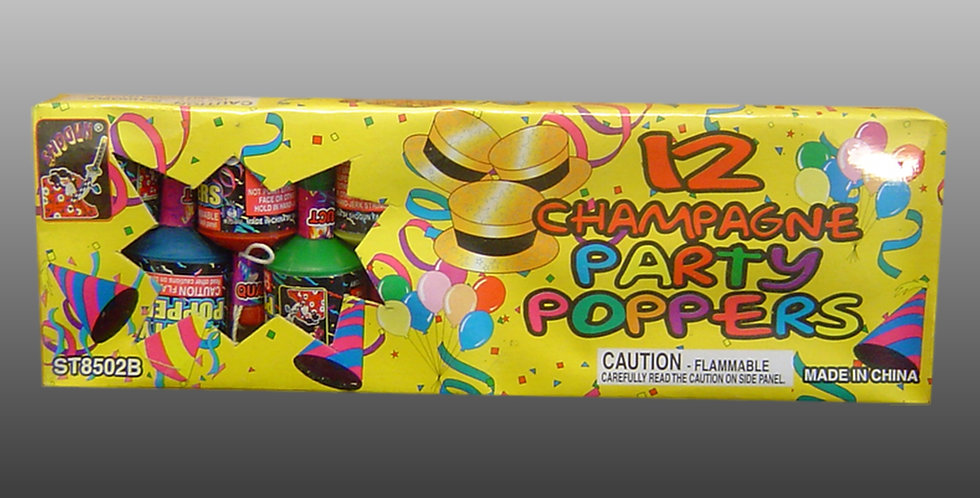 Party Poppers (12-Pc.)