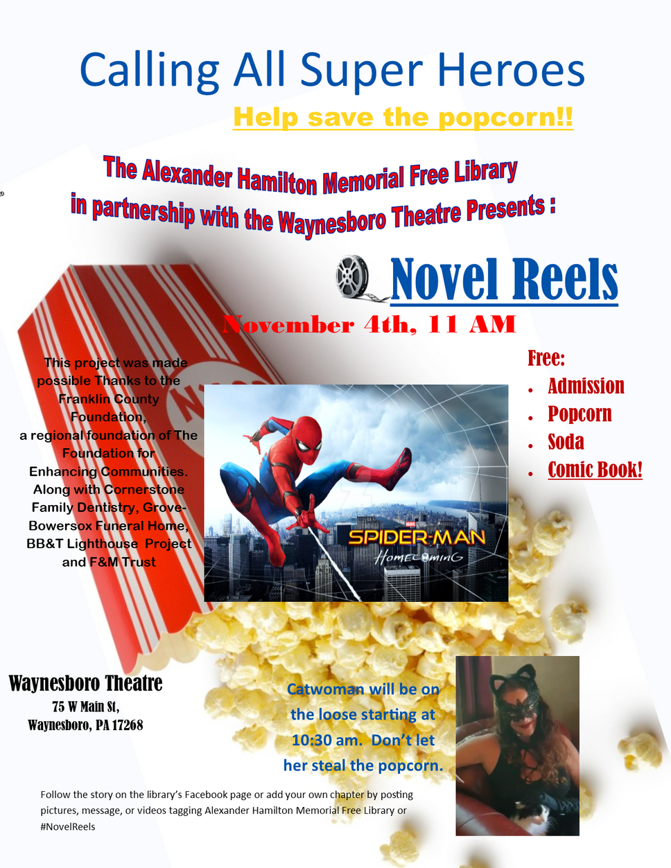 Catwomen Vows to Pilfer Popcorn at Novel Reels