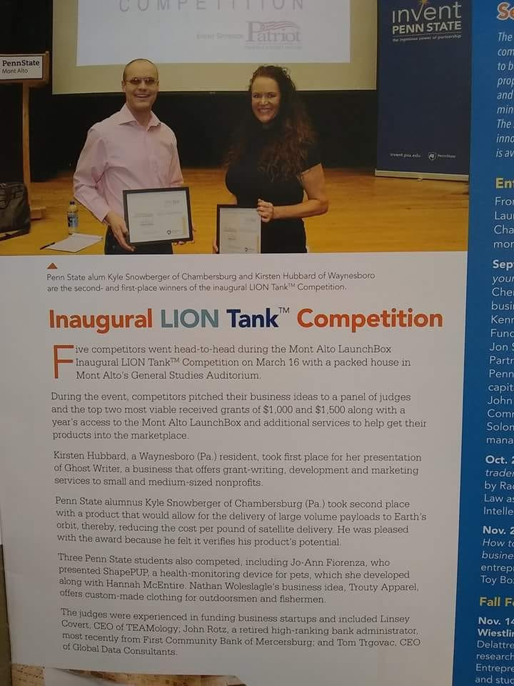 Look what made the Penn State Mont Alto alumn mag!