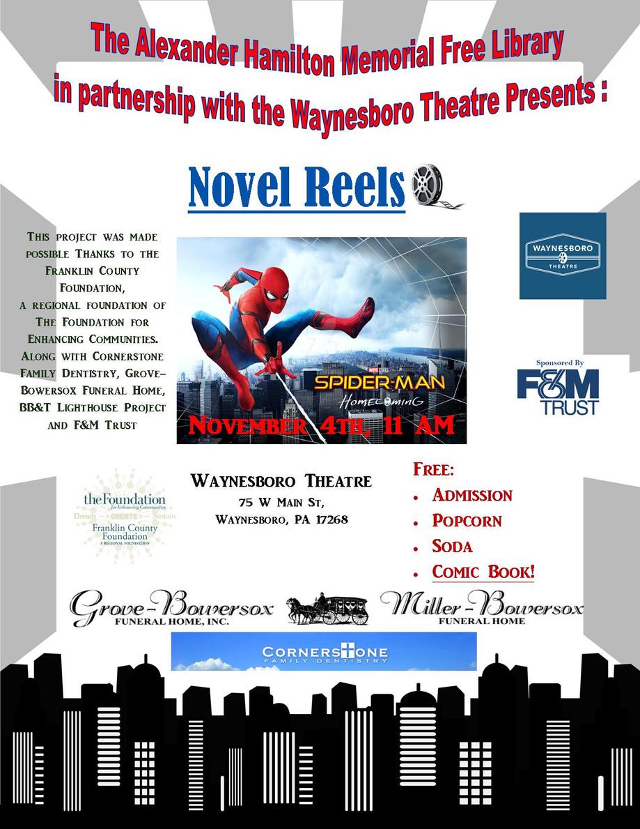 Novel Reels: Free Movie, Popcorn, Soda, and Books