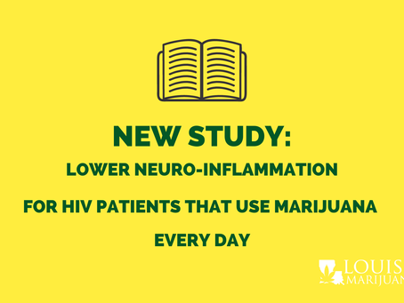New Study: Lower Neuro-inflammation for HIV Patients that use Marijuana Daily