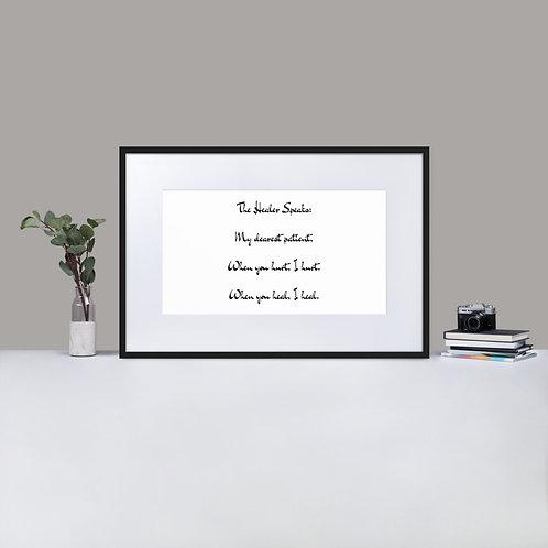 Matte Paper Framed Poster: The Healer Speaks 3