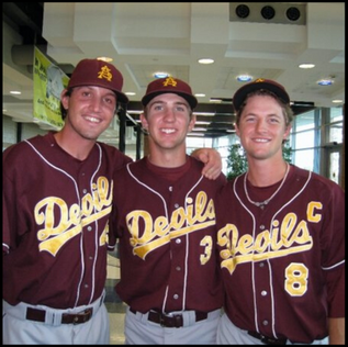 Josh with teammates Jordan Swagerty and Mike Leake