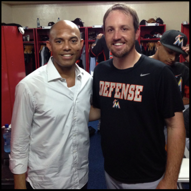 Josh with Mariano Rivera