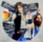 star wars art painting johnny's saloon huntington beach Steven McNeely Artist Kalifornien Künstler Maler Artwork Paintings han solo princess leia sexy boobs nude hot rod tattoo