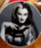 lily munster table art painting herman munsters marilyn vintage pinup Steven McNeely Artist Kalifornien Künstler Maler Artwork Paintings