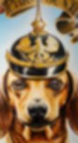 dackel dachshund german pickelhaube ww2 wwi Deutschland painting artwork optigasm Künstler Steven McNeely
