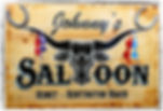 johnnys sallon huntington beach art painting sign Steven McNeely Artist Kalifornien Künstler Maler Artwork Paintings western bar vintage brothel johnny kresmir