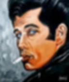 John Travolta Danny Zuko grease rockabilly t-birds greaser art painting hot rod grease lightning viva las vegas Steven McNeely Artist Kalifornien Künstler Maler Artwork Paintings Il Nido Voerde Voerde