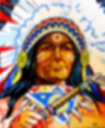 winnetou german actor indian navajo cherokee western art painting Steven McNeely Artist Kalifornien Künstler Maler Artwork Paintings