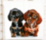 Zwei Dackel Steven McNeely Artist Kalifornien Künstler Maler Artwork Paintings