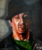 Sylvester Stallone Rocky italian stallion mafia rambo arnold muscle art painting Steven McNeely Artist Kalifornien Künstler Maler Artwork Paintings