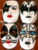 gene simmons paul stanley ace frehley peter criss rock band art painting Steven McNeely Artist Kalifornien Künstler Maler Artwork Paintings hand painted masks kabuki rock band KISS shannon Tweed
