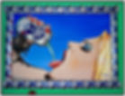 Steven McNeely Artist Kalifornien Künstler Maler Artwork Paintings beer art pabst blue ribbon art contest girl