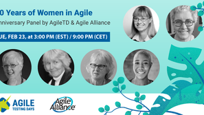 Panel on 20 Years of Women in Agile - co-presented by the Agile Alliance