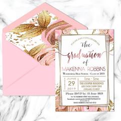 Personal Client Graduation Invitations