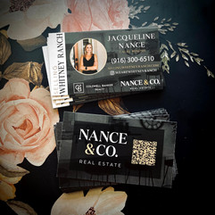 Nance & Co. Real Estate Business Cards