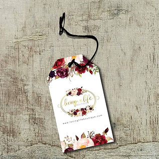 LOVING LIFE BOUTIQUE CLOTHING TAG