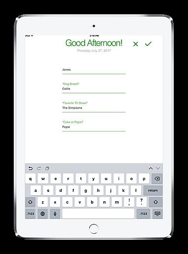 Visitor Management System iPad custom