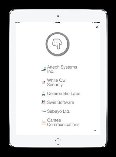 Visitor Management System iPad tennants