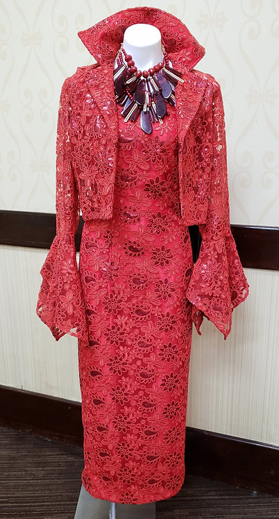 2 pc red lace
