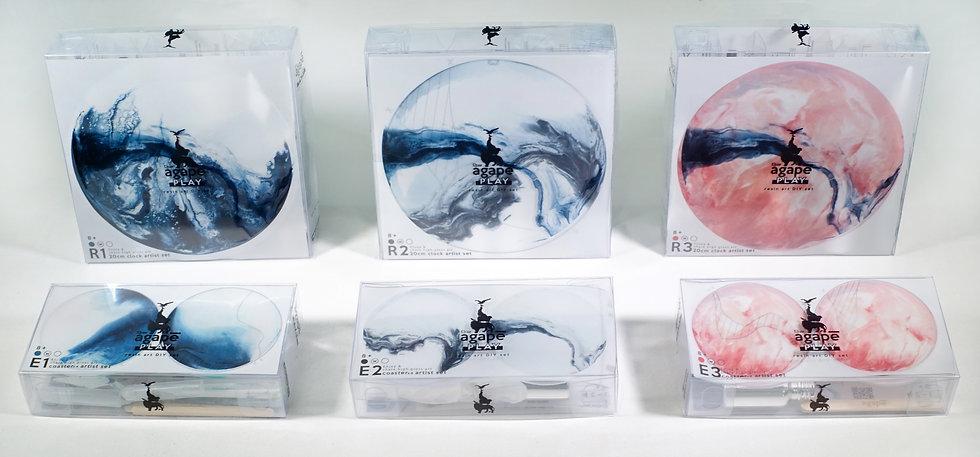 agapePLAY - resin art DIY ( 10cm coaster x4 set )