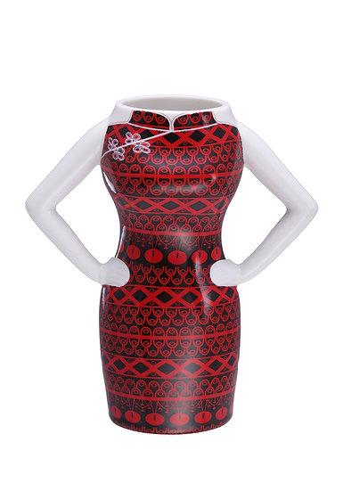 Red & Black Handmade Ceramic Yi-ming Mug