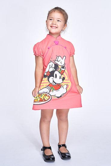 Yi-ming - DISNEY Girls' Chef Mickey Cotton Cheongsam