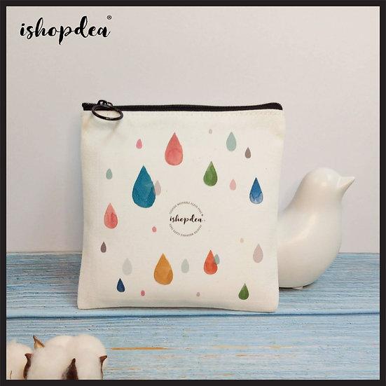ishopdea Sanitary Napkin Dual Pocket Zipper Bag (with Original Design Options)
