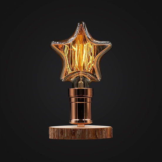 Twinkle Star Wood Desk Lamp - 星星木檯燈