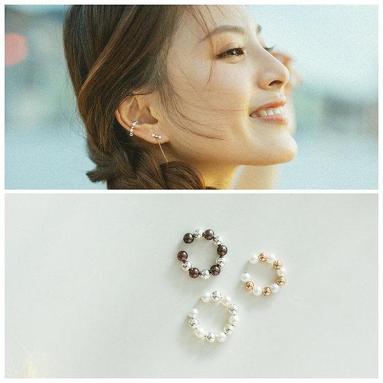AZZE Jewelry - MINI SEEDS Earcuff (1pc) / 迷你種子 珍珠耳圈 (單件)