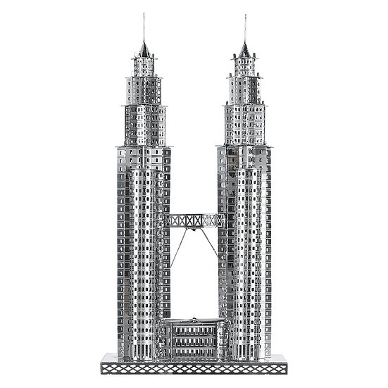 piececool - Petronas Towers (Gold/Silver) / 雙子大廈 (金色/銀色)