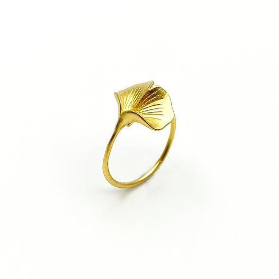 Ginkgo 18K Gold Ring - paper diamond®