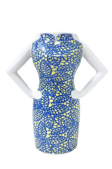 Yi-ming - Yellow & Blue Handmade Ceramic Yi-ming Mug