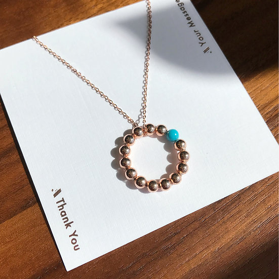 Seeds of Love Necklace (blue)