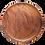 Thumbnail: Islandoffer -  Simple black walnut round snack tray, tea tray and fruit tray