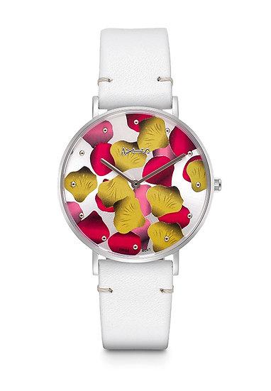 AXIS - Genuine Leather Quartz Watch / Bora Bora (White)