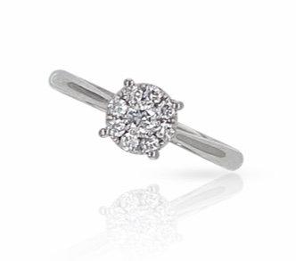 PIENA 18k Diamond Ring  - A Z Z E Jewelry