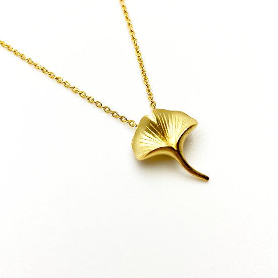 Ginkgo 18K Gold Necklace - paper diamond®