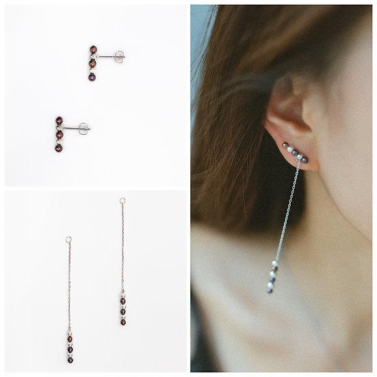 MINI SEEDS LONG Earring set - A Z Z E Jewelry
