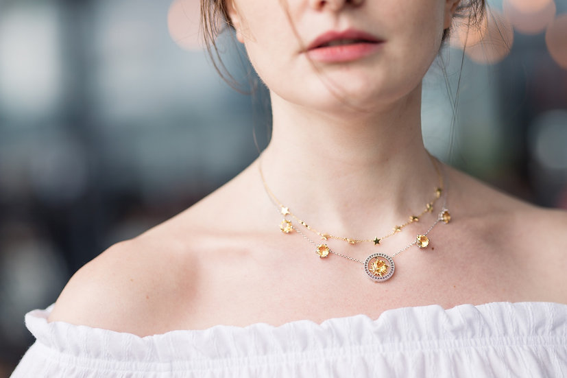 Verdandi House - Sun, Moon and Stars Collection: Dazzling Stars Necklace