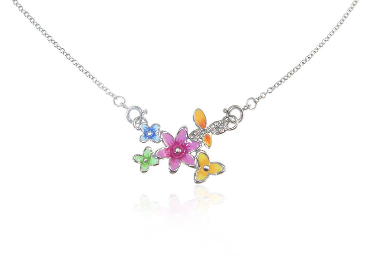 Lextia - Spring Gardens Butterfly Stainless Steel Pendant
