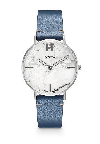 AXIS X Hotitle - Titanium Watch (White / Blue)