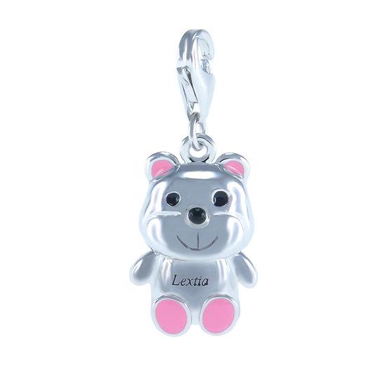 Lextia - 925 Silver Teddy Bear Charm / 925 純銀 玩具熊吊飾