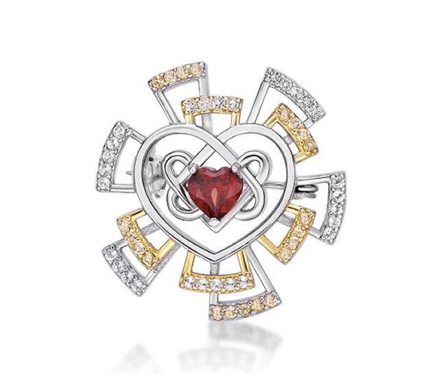 Verdandi House - Shining Heart Brooch / Shining Heart 胸針